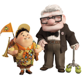Russell and Carl from Disney Pixar UP!