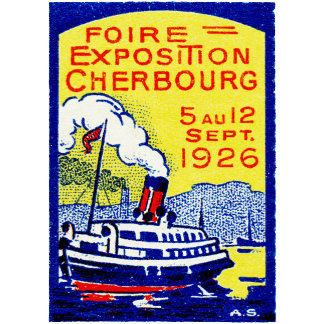 1926 Cherbourg France Poster