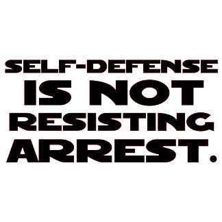 Self-Defense4 - Black w/ Red Outline
