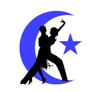Ballroom moon star 2 blue