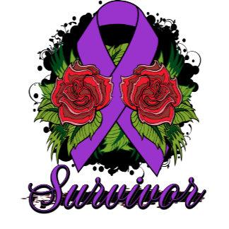 Epilepsy Survivor Rose Grunge Tattoo