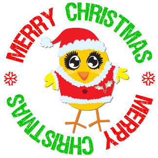 Merry Christmas Chick Snowflake