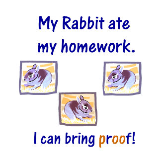 My rabbit ate my homework