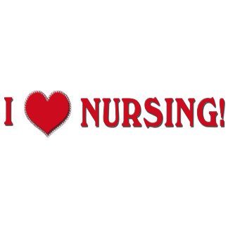 I LOVE NURSING!  NURSE VALENTINE HEART