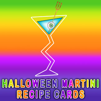 HALLOWEEN MARTINI RECIPE CARDS