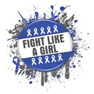 Fight Like a Girl Cool Button - Colon Cancer