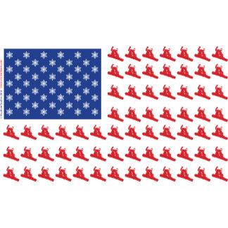 Patriotic Snow Boarder Flag