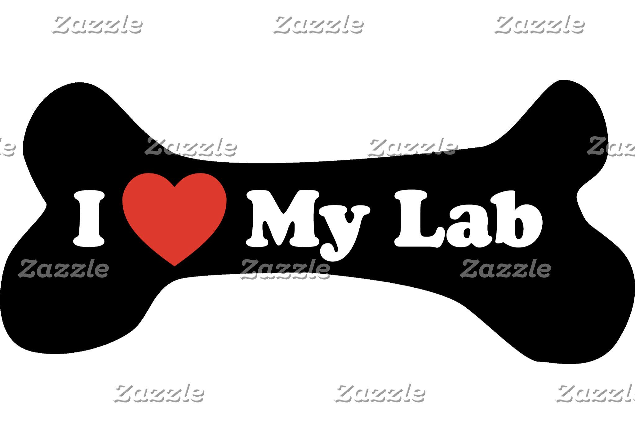 Dog Bone & Breeds - I Love My . . .