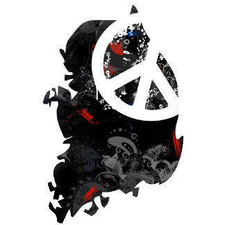 South Korea Trendy Peace Sign with Korean map