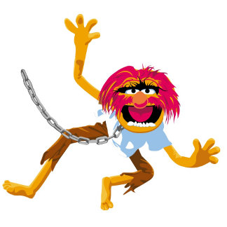 The Muppets Muppet in Collar and Chains