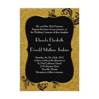 Gold and Black Baroque Wedding Set