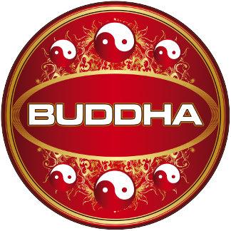 Yin Yang Buddha Logo