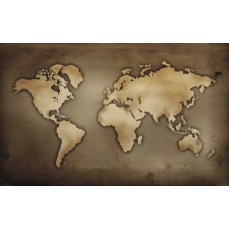 Close up of antique world map 4