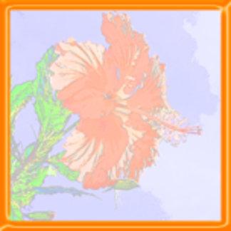 Faded Hibiscus Design