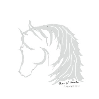 Horse Head in Gray Siloutte