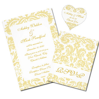 Cream Damask Wedding Collection
