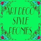 Art Deco Style Peonies Bags