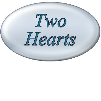Two Hearts with Decorative Scroll Border