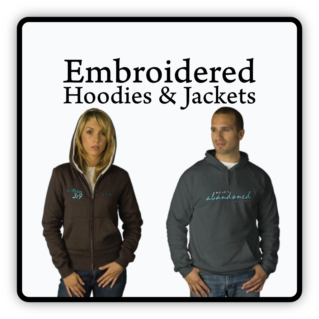 Embroidered Hoodies & Jackets