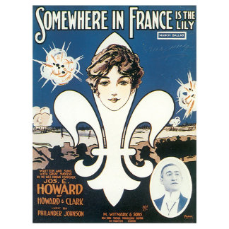 Somewhere In France Is The Lily - Vintage Song Art