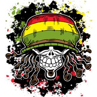 Jamaican Corn Rolls Hair Skull Paint Splashes