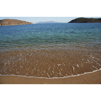 Greece, Serifos. View from clear beach water