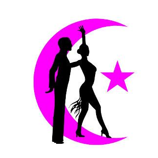 Ballroom moon star pink