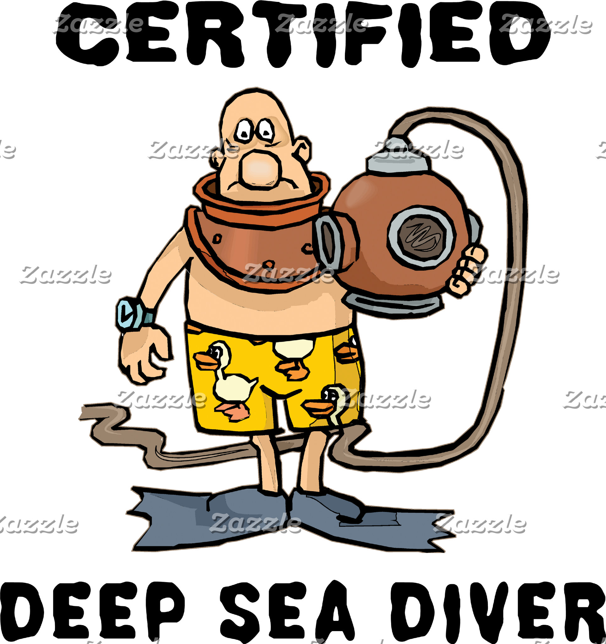 Certified Deep Sea Diver T-Shirt Gift Cards