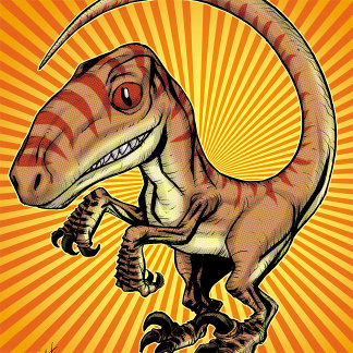Velociraptor Raptor Dinosaur by Marco D Carillo