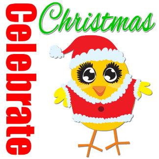 Celebrate Christmas Santa Chick