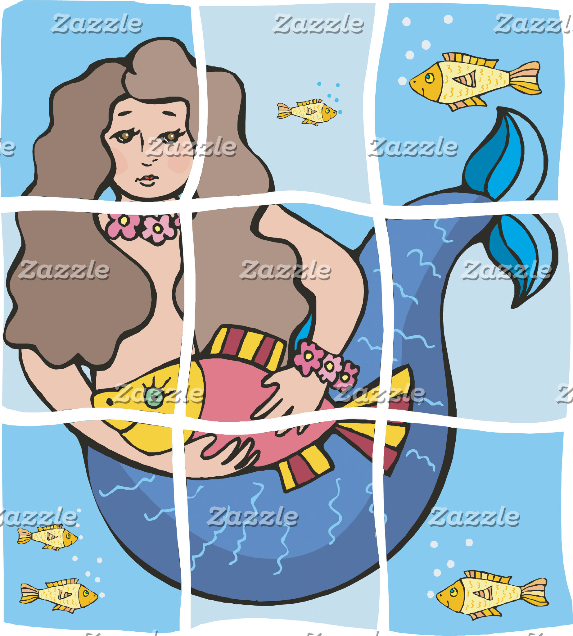 Mermaid T-Shirt Gifts Cards