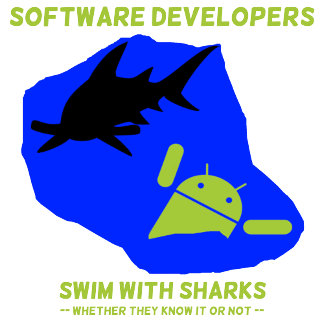 Software Developers Swim With Sharks (Android)