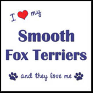 I Love My Smooth Fox Terriers (Multiple Dogs)