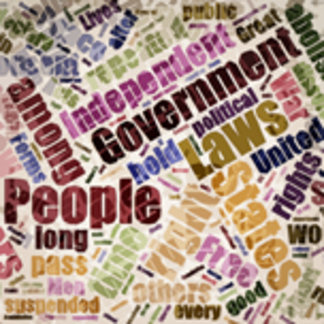 Declaration of Independence Word Cloud