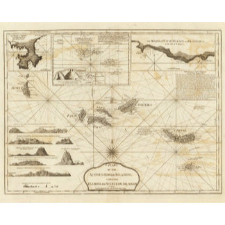 Chart of the Acores Hawks Islands
