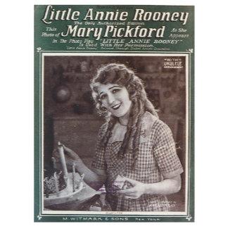 Little Annie Rooney Vintage Song Sheet Music Art