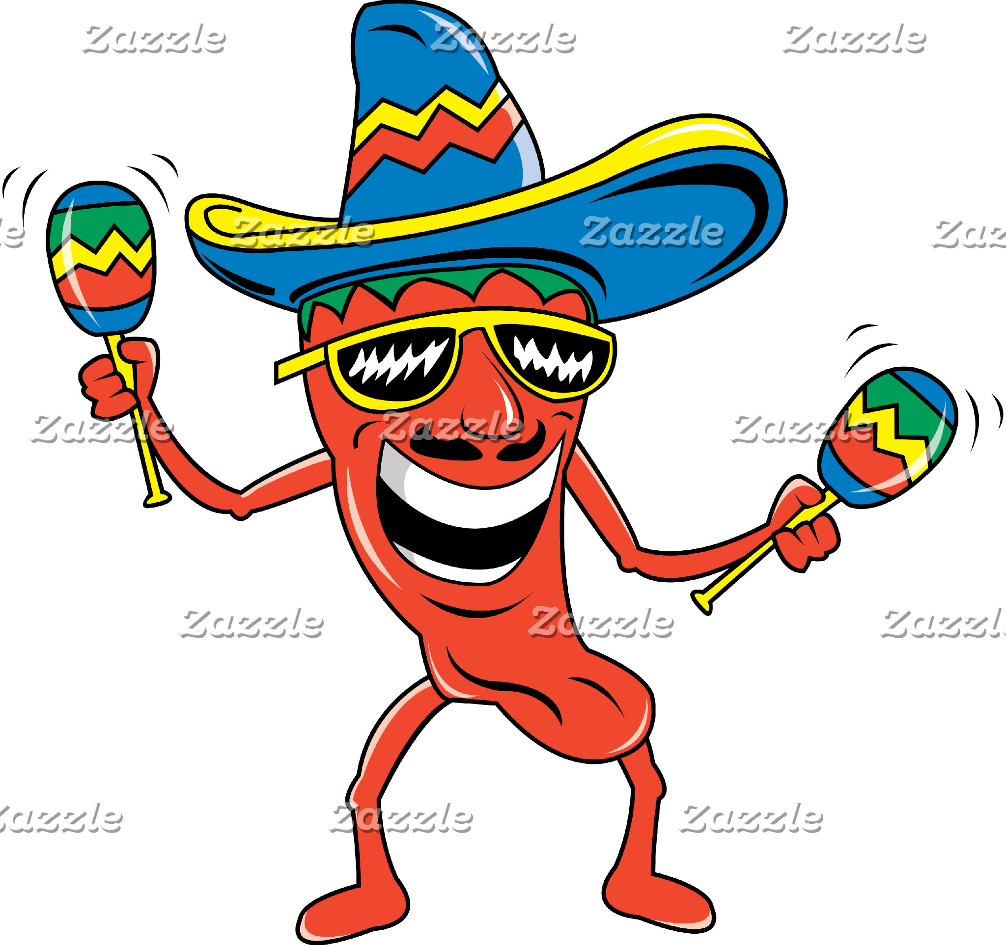 Mexican Chili Pepper T-Shirt Gift Cards