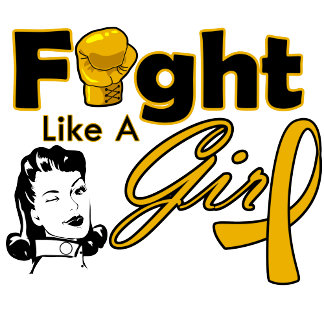Appendix Cancer Fight Like A Girl - Retro Girl