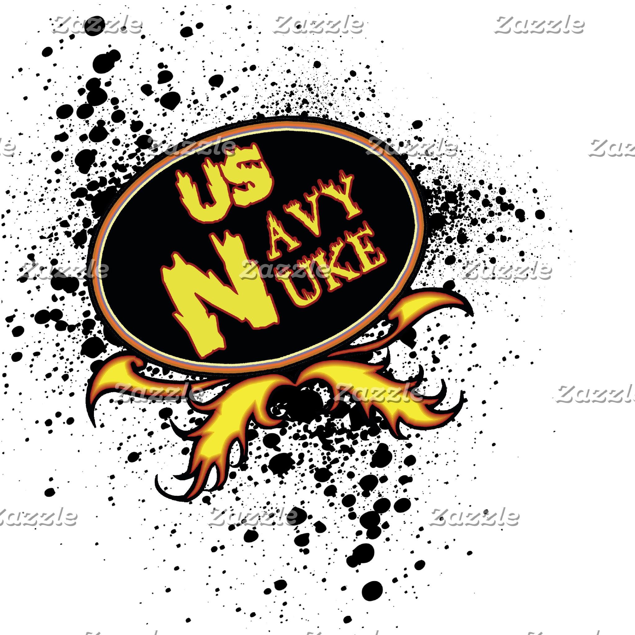 US Navy Nuke with flaming font