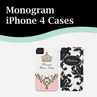 Monogram iPhone 4 Cases