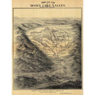 Bird's eye view, Honey Lake Valley