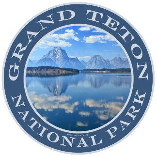 Logo Style Grand Teton National Park Mountain