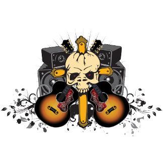 Guitars Speakers Skull
