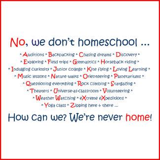 No We Don't Homeschool