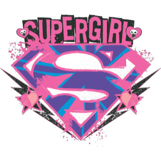 Supergirl Pink and Purple Grunge Logo