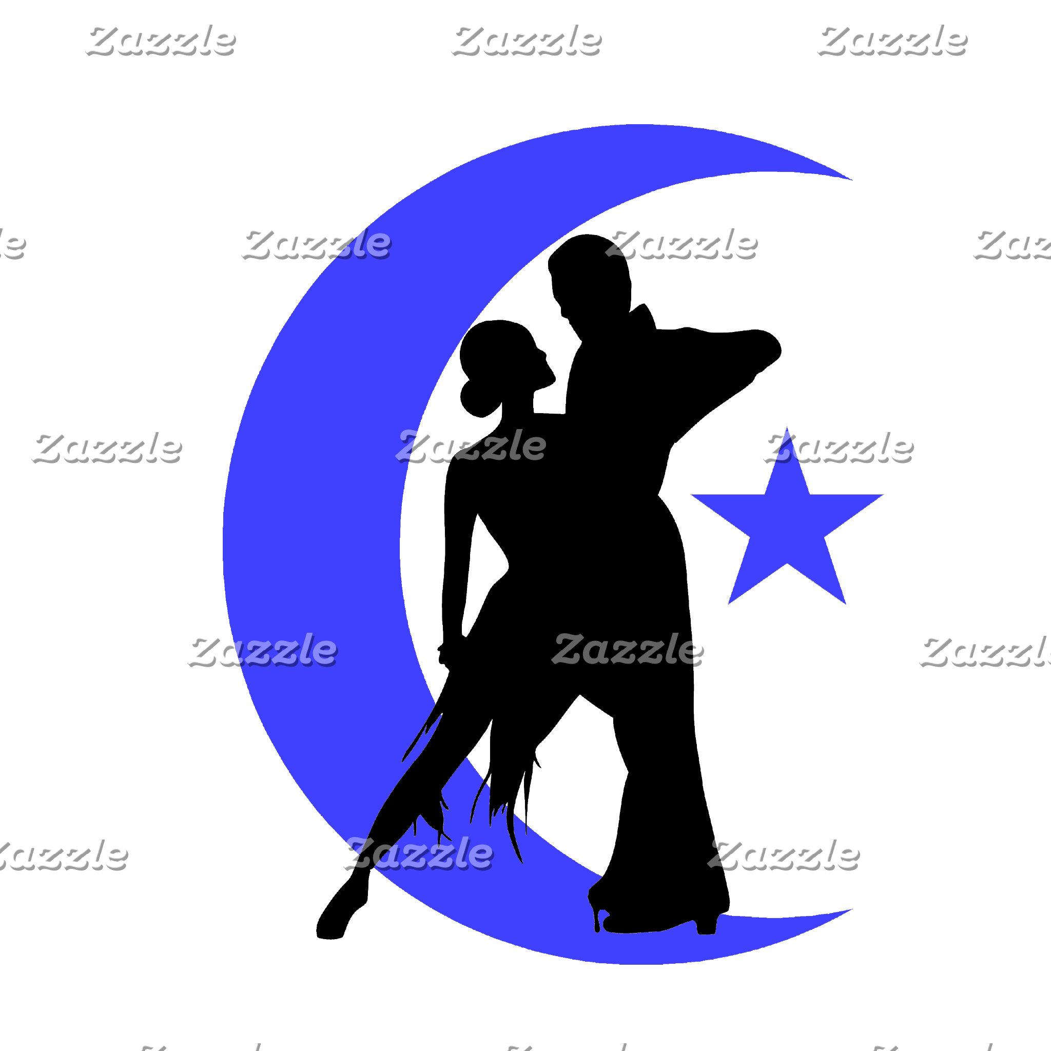 Ballroom moon star 4 blue