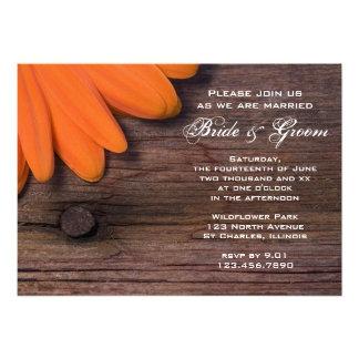 Rustic Orange Daisy and Barn Wood Wedding