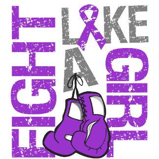 Leiomyosarcoma Fight Like a Girl Grunge Slogan