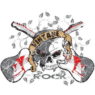 Vintage Rock Skull
