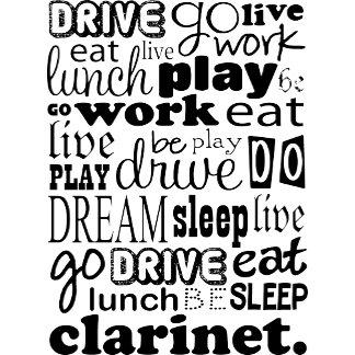 Eat Sleep Clarinet Tshirts and Mugs